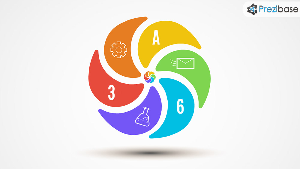 creative idea spinner flower infographic prezi presentation template