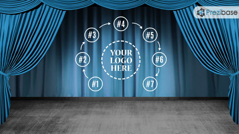 animated curtains video background stage theatre cinema movie prezi template