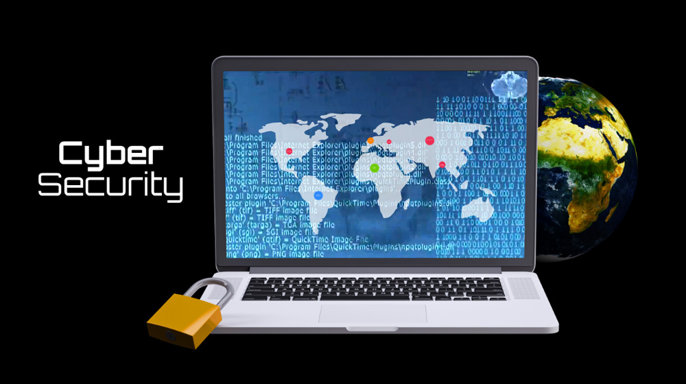 Cyber security global hacking prezi template 3d for presentations