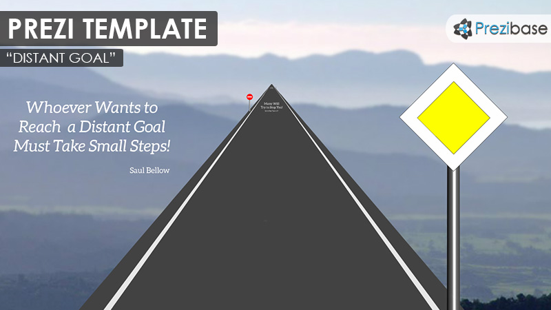 distant goal road path zoom prezi template