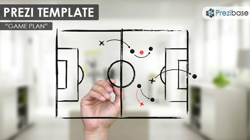 game plan strategy sketch sports prezi-template