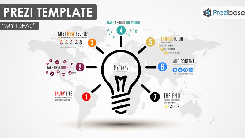 my ideas light bulb creative thinking prezi template