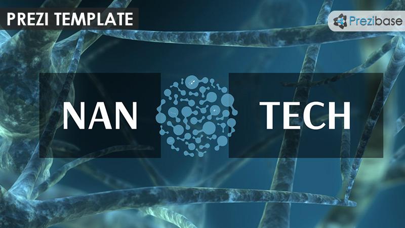 nanotechnology atom molecule science prezi template