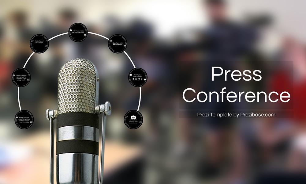 Press Conference media interview prezi presentation template