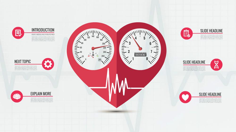 Race your heart creative medical and health Prezi presentation Template