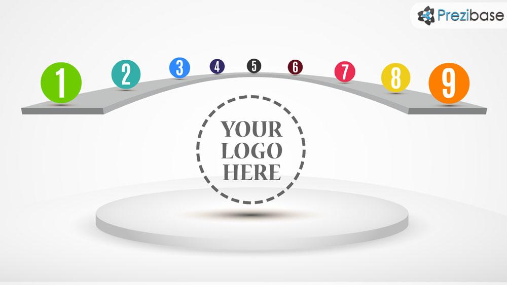 round circular stage background prezi presentation template