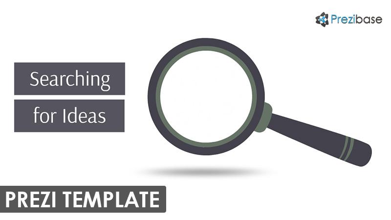 magnifying glass research prezi template