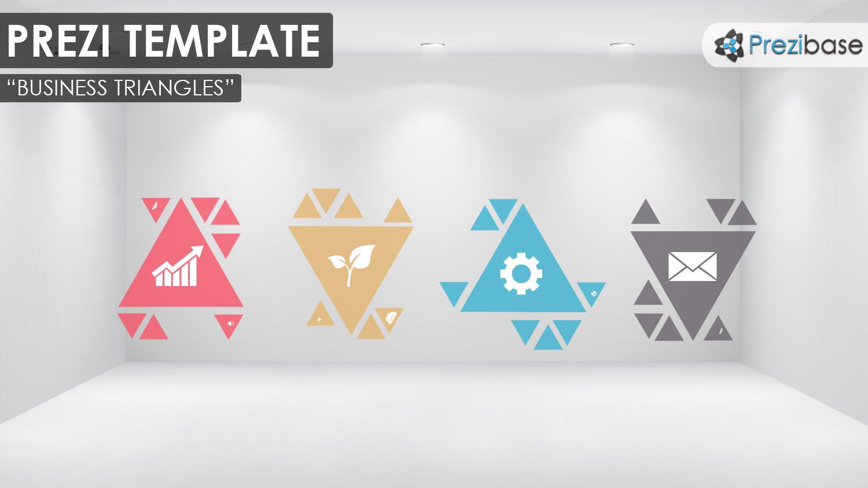 business triangles prezi template