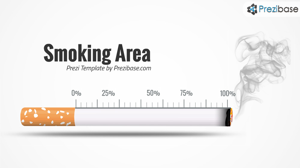 Smoking cigarette prezi template for presentations