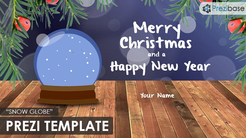 snow globe christmas prezi template