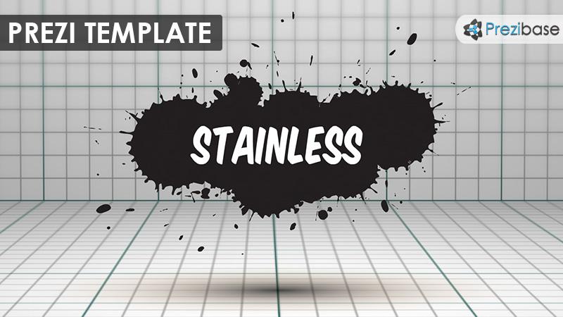 3d ink splatter graphic design grunge prezi template