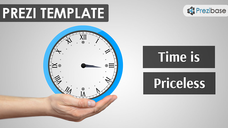 time animated clock prezi template business school