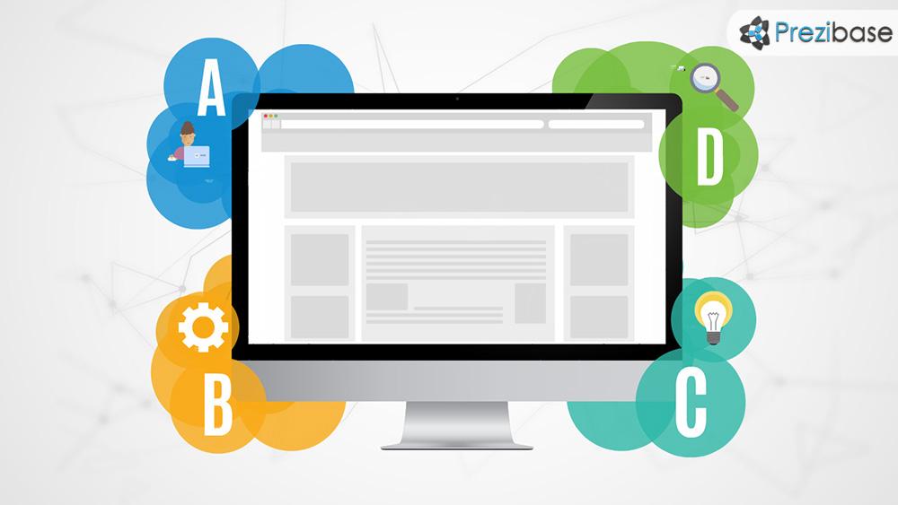 website and internet marketing online homepage promotion prezi template presentation