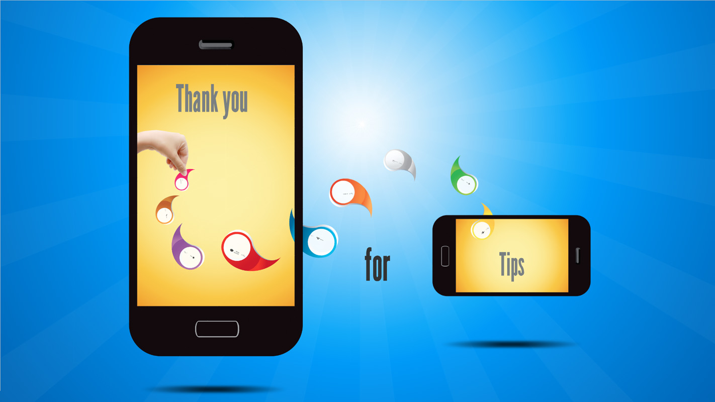 Prezi template with mobile phone concept