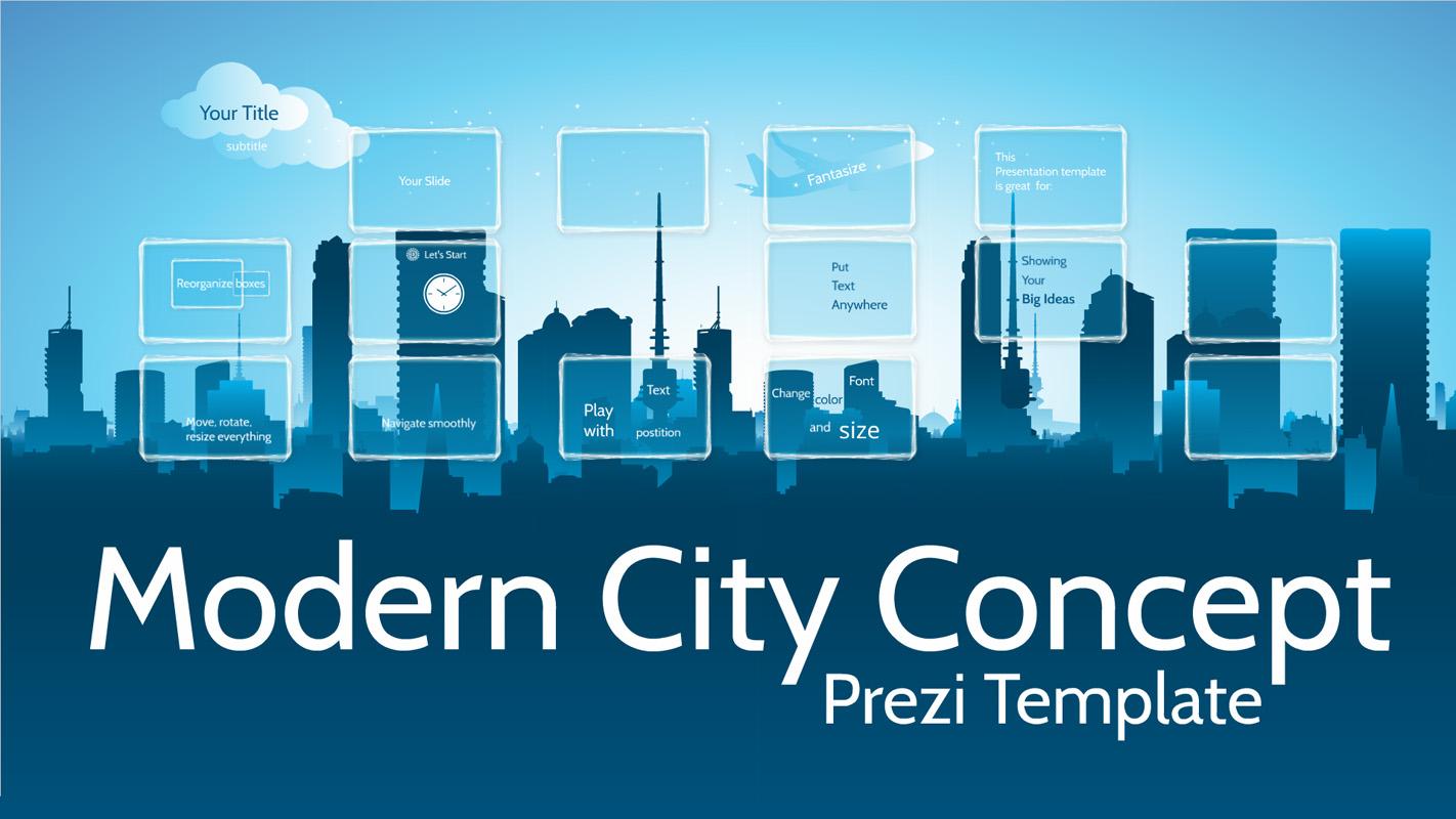 Modern City Concept Prezi Template