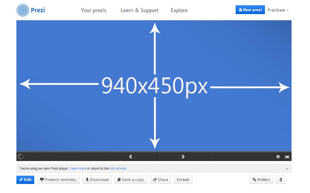 Prezi adding a perfectly sized slide prezibase prezi default player size toneelgroepblik Image collections