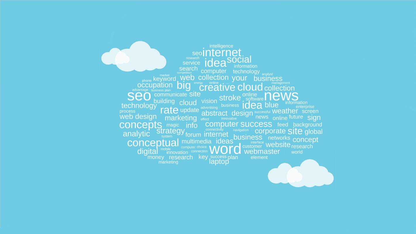 Tag cloud Prezi template