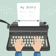 writer-typewriter-story-prezi-template