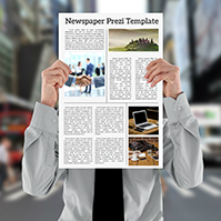 newspaper-prezi-template