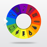 spin the wheel template in prezi | prezibase, Powerpoint templates