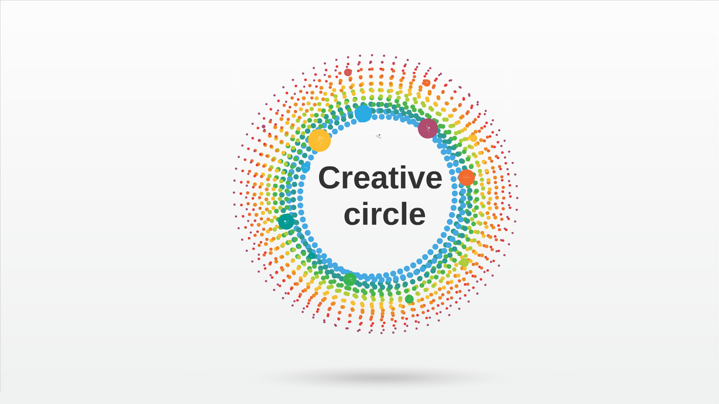 Creative circle prezi template prezibase for Presi templates