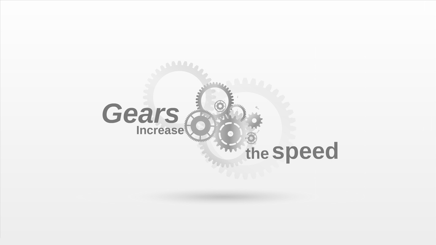 Gears Increase the Speed Prezi Template