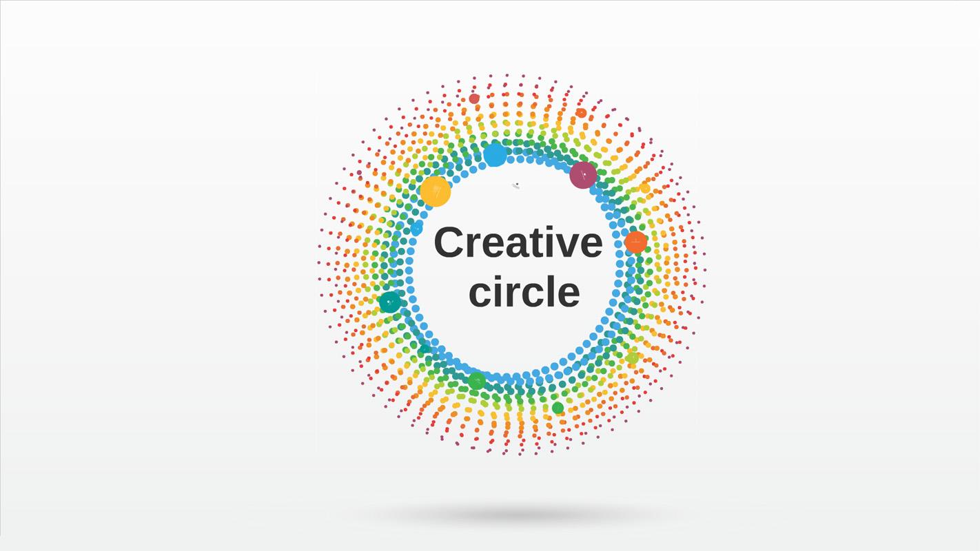 Creative Circle Prezi template