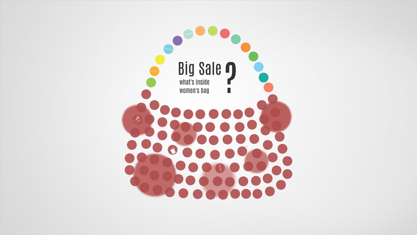 Big Sale Shopping Bag Prezi template