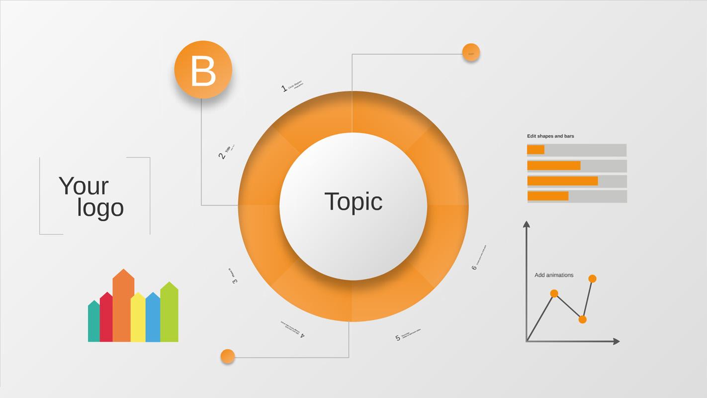 Circle Diagram Infographics Prezi Template Prezibase
