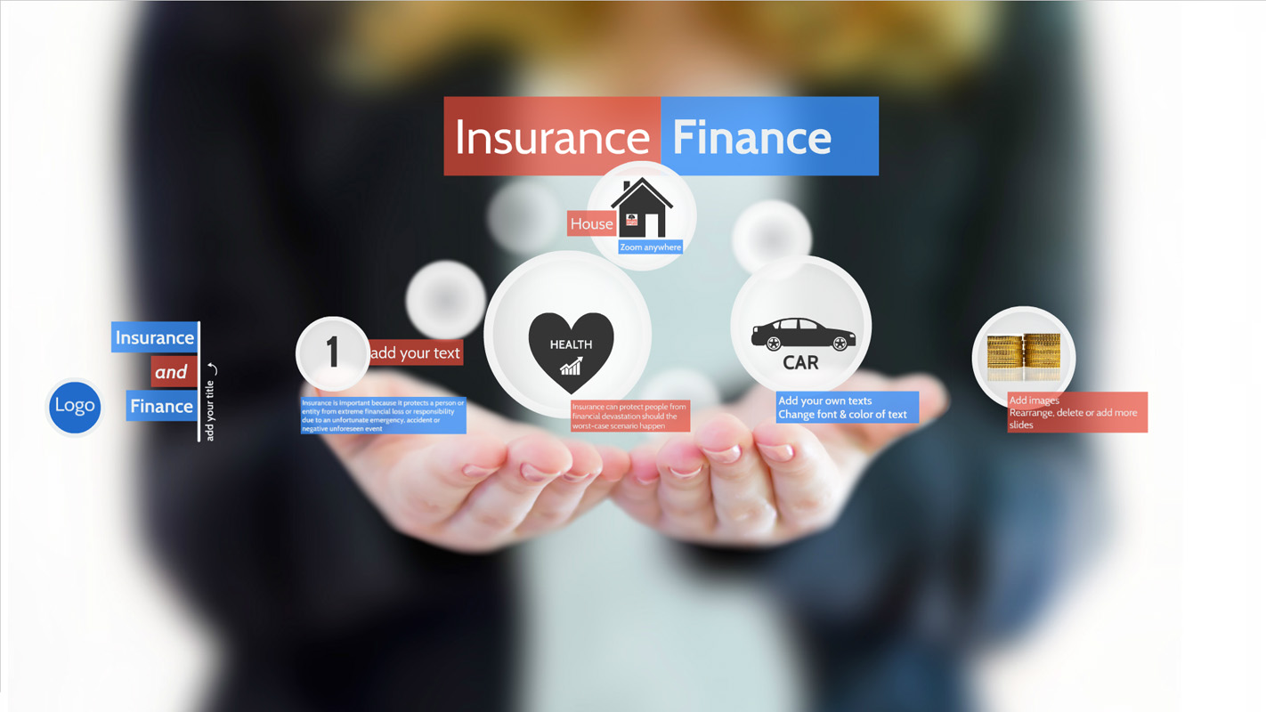 Insurance and Finance Prezi template