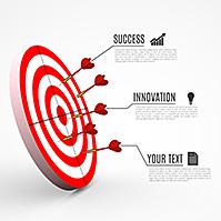 hitting-targets-3D-arrow-darts-goals-business-prezi-template