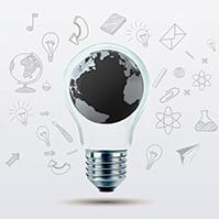 3D-world-globe-light-bulb-ideas-sketch-drawing-business-prezi-template