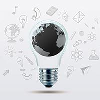 3D-world-globe-light-bulb-ideas-sketch-drawing-business-prezi-template