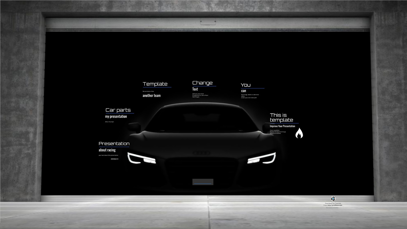 Car presentation Prezi template