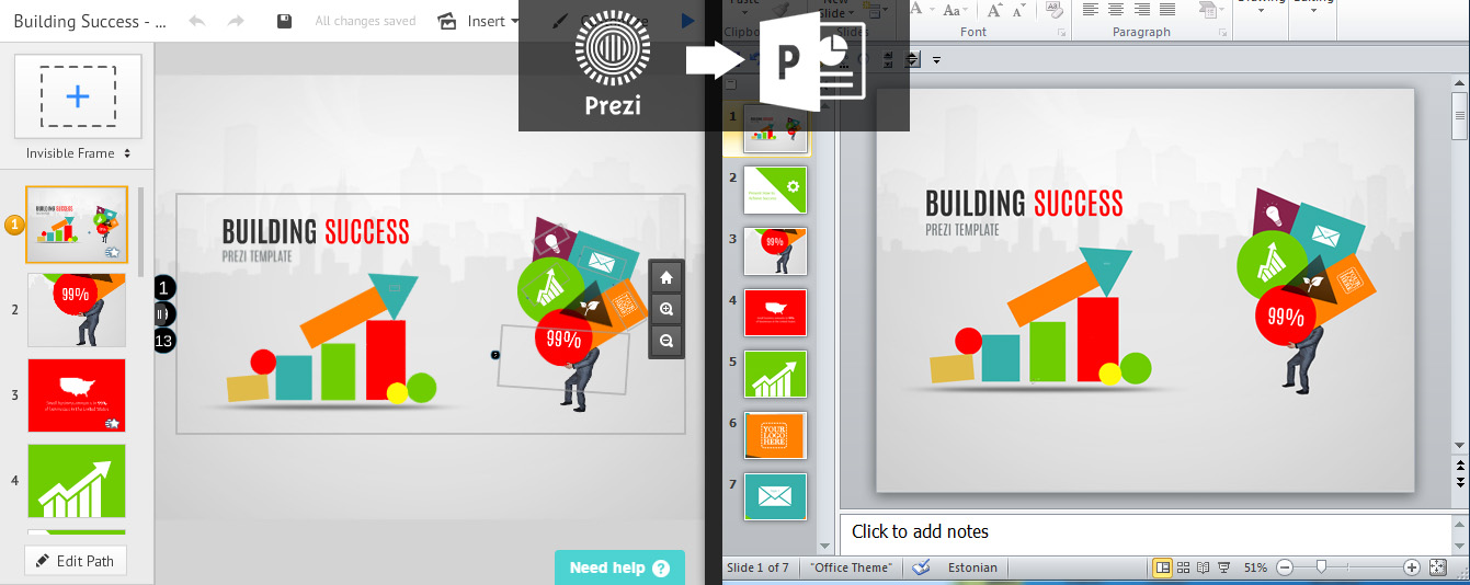 import prezi to powerpoint prezibase