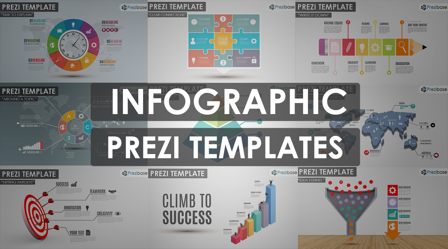 infographic diagrams and charts pezi templates