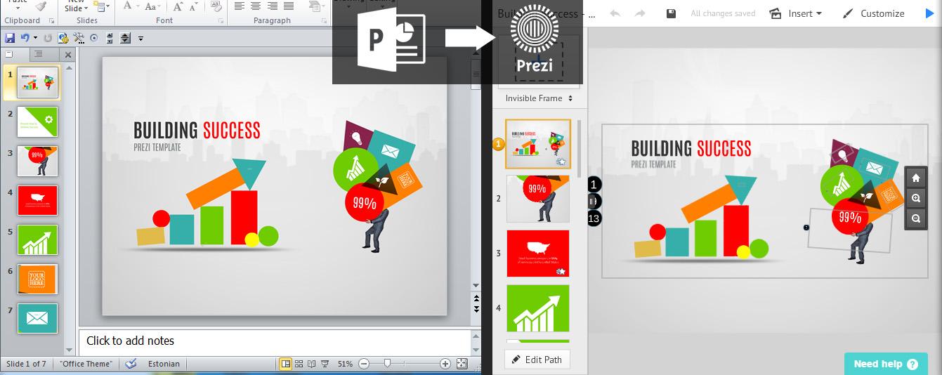 Import a PowerPoint to Prezi | Prezibase