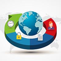 3D-colorful-arrow-diagram-with-3d-earth-business-pie-chart-progress-prezi-template