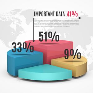 3D-pie-chart-quarters-25-percent-business-infographic-prezi-template