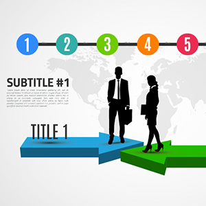 successful-business-deal-concept-diagram-3d-arrows-infographic-silhouettes-prezi-templates