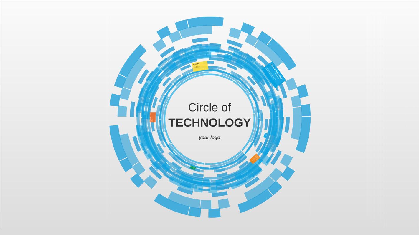 Circle Of Technology Prezi Template Prezibase