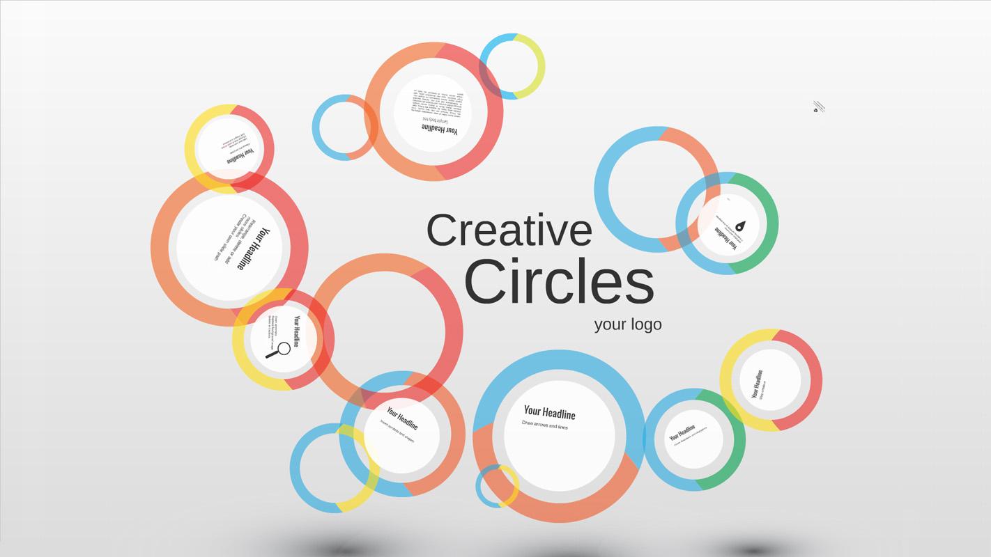 Creative circles Prezi Template