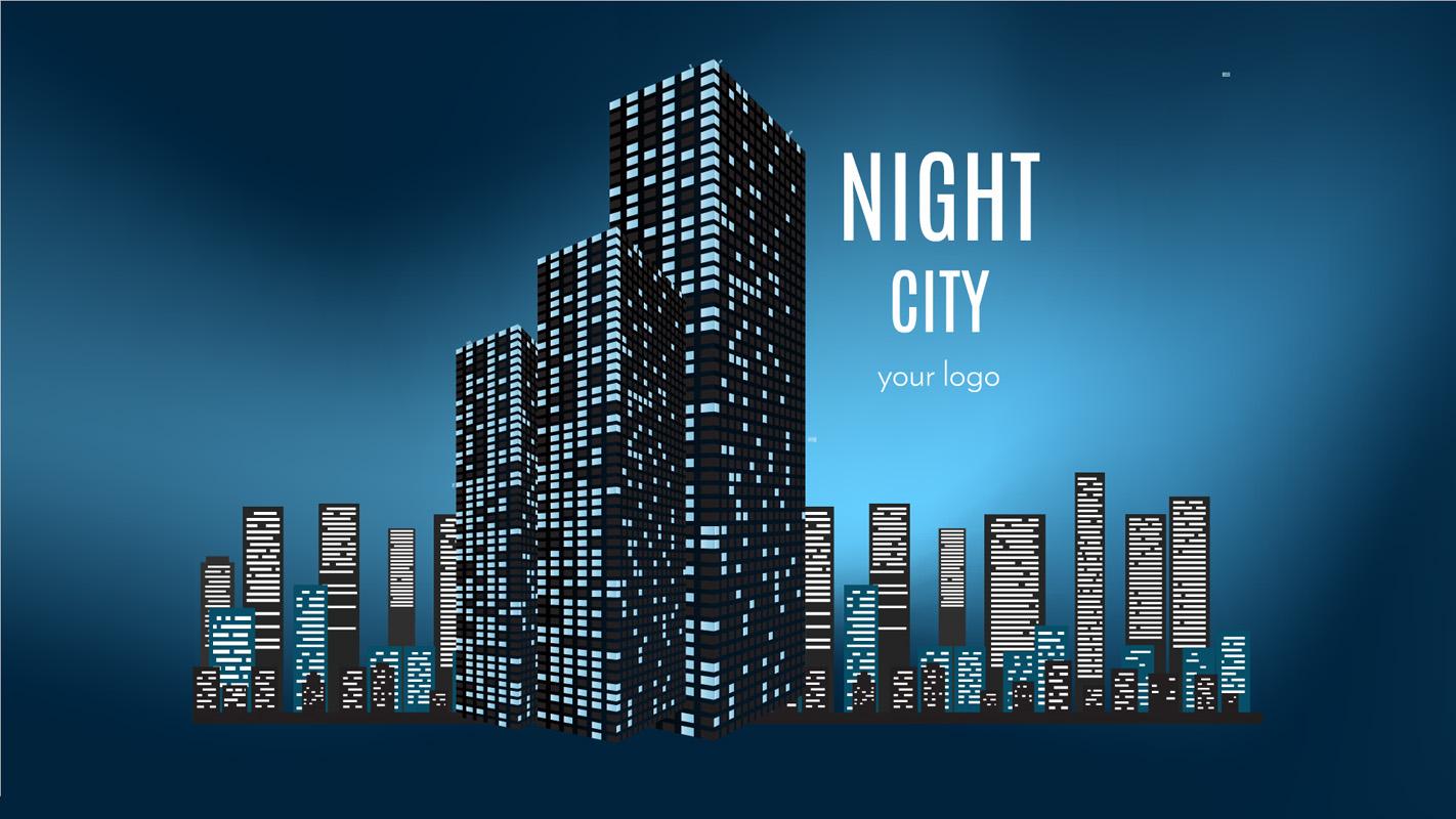 Night city Prezi template