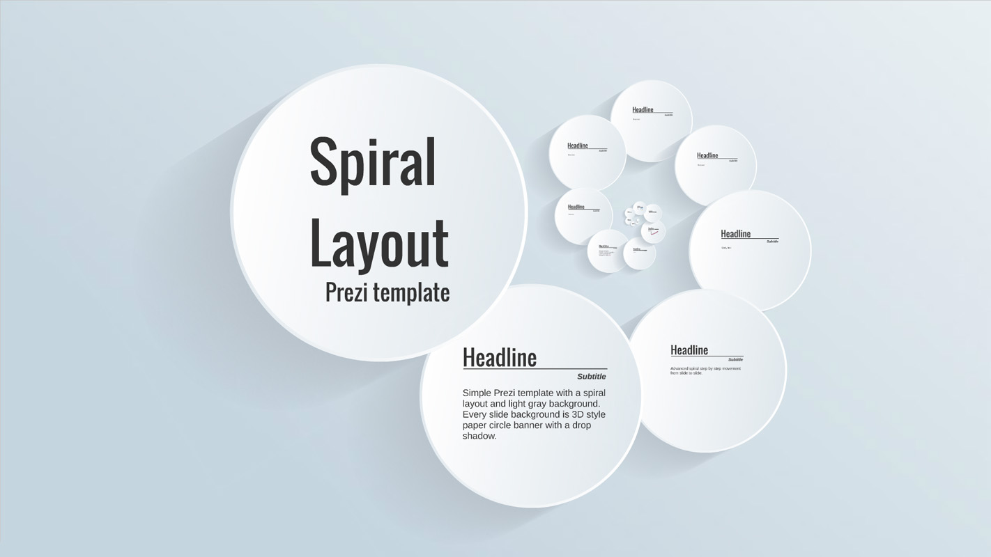 Spiral layout prezi template prezibase for Free prezi templates