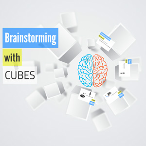 brainstorming with cubes