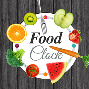 food clock prezi template prezibase