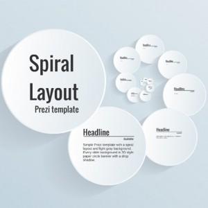 Spiral Layout Prezi template