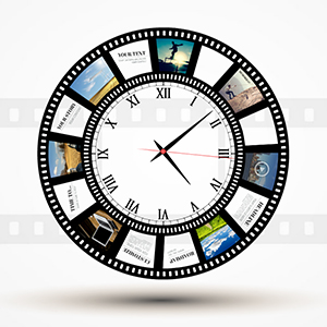 Story of time circular photo template for prezi