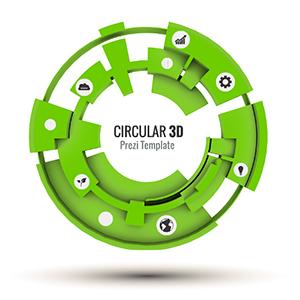 circular 3d prezi template prezibase