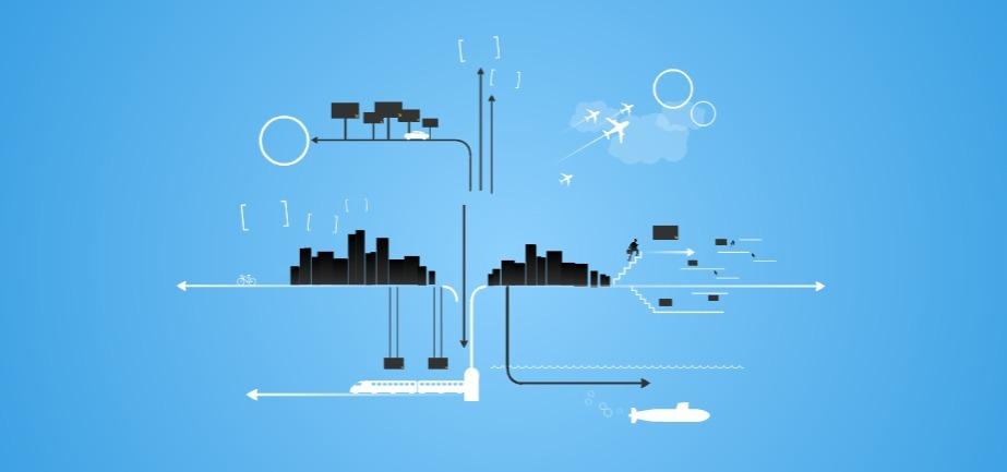 Transportation-plain-blue-free-presentation-template